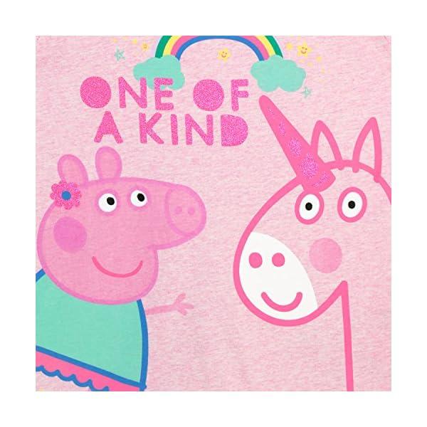 Peppa Pig Girls' Peppa & Unicorn T-Shirt 4