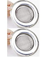 Size-11.3 cm..Jali size-7 cm Fine sink strainer set, stops rubbish from blocking your drains Esay to install and remove, no need any professional skill No more blocked sink, bath or basin Package Contents: 2-Piece Stainless Steel Mesh Sink Strainer