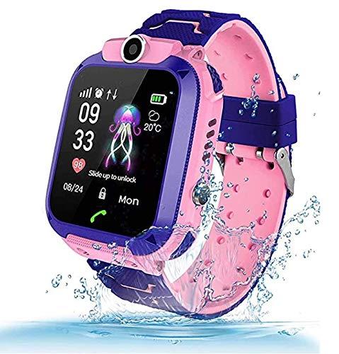 Fitfirst Reloj Inteligente para Niños, Smartwatch Niña IP67, LBS, Hacer Llamada, Chat de Voz, SOS, Modo de Clase, Cámara, Música,...