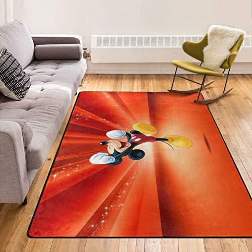 Caimizogojocrz Teppich mit Cartoon-Anime-Motiv, Micky-Maus-Motiv, rutschfest, für Wohnzimmer, Schlafzimmer, Kinderzimmer, Innendekoration, 213,4 x 152,4 cm