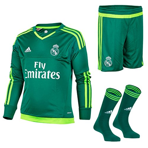 adidas Kid's Real Madrid CF weg SMU trainingspak-groen/wit/VERFUE/VERSOL, maat 128