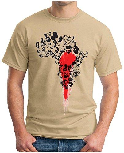 OM3 - Bloody Africa - T-Shirt Apartheid Black Kolonialismus Sklaverei Ebola Swag Emo, L, Khaki