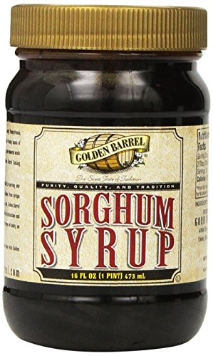 Golden Barrrel Sorghum Syrup Wide Mouth Jar, 16 oz ( Pack May Vary )