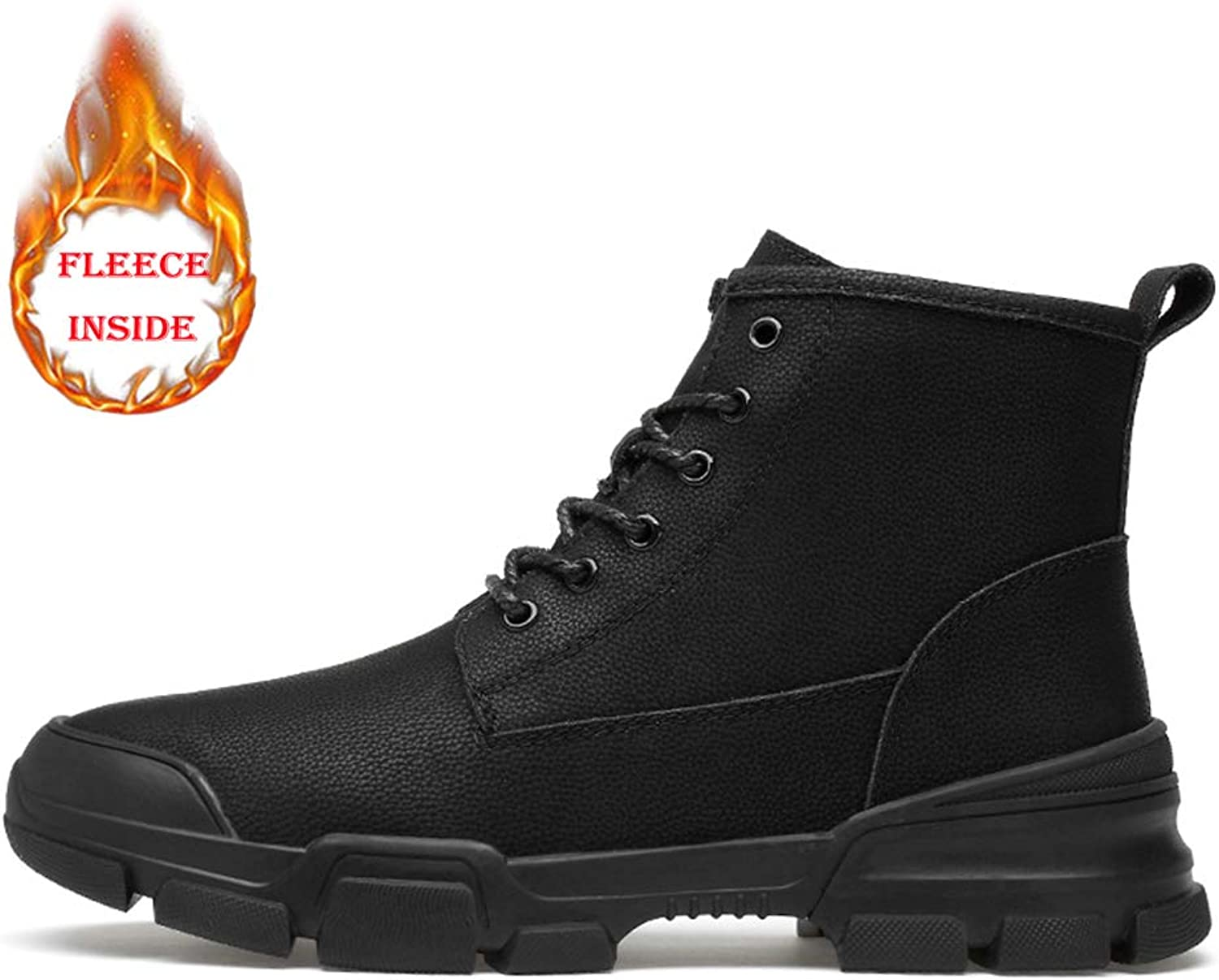 Seeker Casual British Style Einfache Gummisohle Schnürung Freizeit Sport Stiefel Stiefel Herrenmode Stiefeletten New Winter Style  100% authentisch