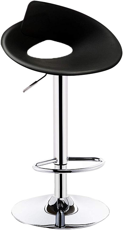 FFLSDR Bar Chair Lift Modern Minimalist High Stool Creative Stool Home Bar Chair Bar Stool Back Bar Chair (color   A)
