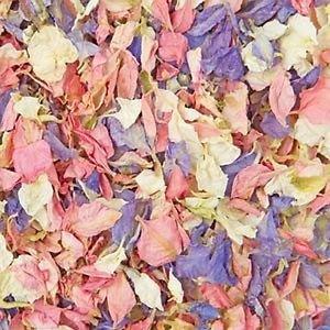 Konfetti für Hochzeiten, natürlich, biologisch abbaubar, in 26 Farben erhältlich - 1 Liter - multi