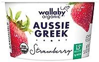 Wallaby Organic, Low Fat Greek Yogurt, Strawberry, 5.3 oz