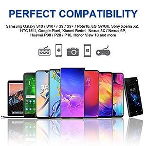 RAVIAD Cable USB Tipo C, Cable USB C a USB 3.0 Cable Tipo C Carga Rápida y Sincronización Compatible con Galaxy S10/S9/S8/Note 10, Huawei P30/P20, Xiaomi Mi A1/Mi A2 y más - 1M, Gris