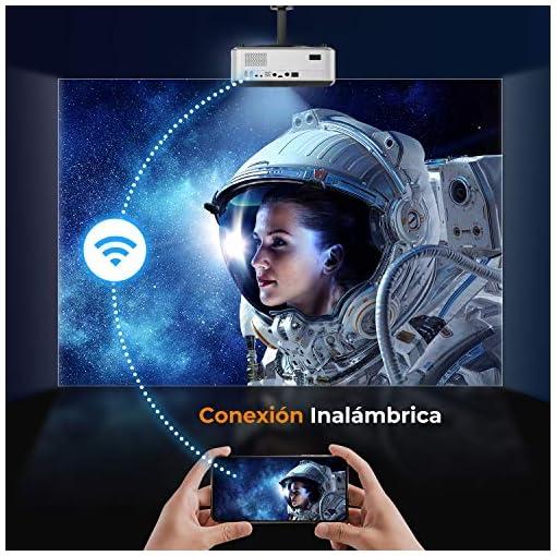 Proyector WiFi Bluetooth 1080P, YABER V6 7600 Lúmenes Proyector WiFi Full HD 1080P Nativo Soporta 4K, Ajuste Digital de… 3