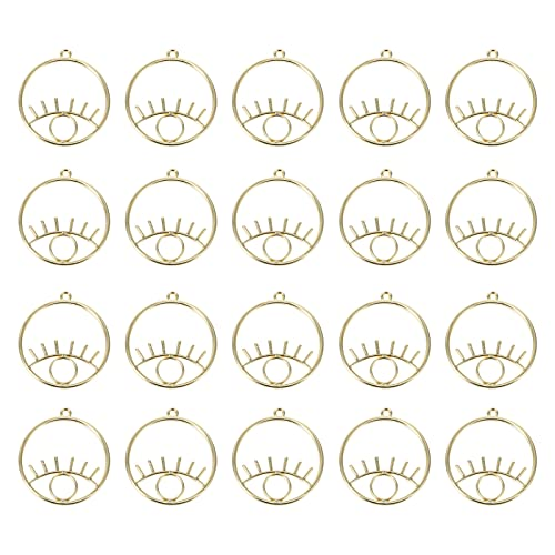 EXCEART 20 Piezas de Colgantes Vintage con Jaula para Ojos Colgantes para Hacer Joyas DIY Collar con Pendientes Pulsera de Oro