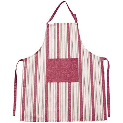 Viste tu hogar Pack Delantal de Cocina, con Bolsillo Delantero y Cinta...