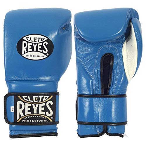 Cleto Reyes Boxhandschuhe - Sparring - Klettverschluss (blau, 14 oz)
