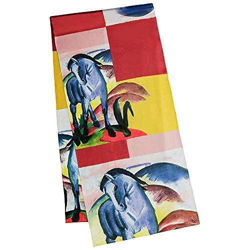 VON LILIENFELD Pañuelo Fular Chales Franz Marc: Caballo Azul Bufanda Seda Arte