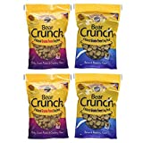 Charlee Bear Grain Free Bear Crunch Dog Treats 2 Flavor Variety Bundle: (2) Bacon & Blueberry Flavor and (2) Turkey, Sweet Potato & Cranberry Flavor, 8 Ounces Each (4 Pack)