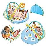 Yookidoo Play 'N' Nap Baby Activity Gym. Estera de juego infantil con manta plegable, almohada para la barriga y juguetes sensoriales para recién nacidos. Lavable a máquina, de 0 a 12 meses