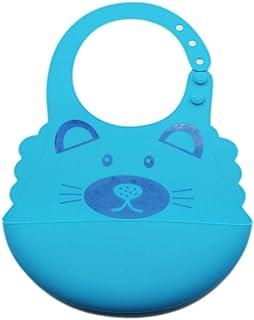 Ronshin Fashion Baby Cute Cartoon Printing Waterproof Silicone Bib Rice Pocket