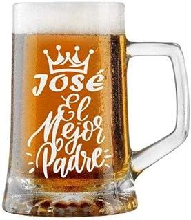Jarra de Cerveza Personalizada Día del Padre CORONA EL MEJOR PADRE Regalo Grabado y Personalizado para Hombre o Mujer Obse...