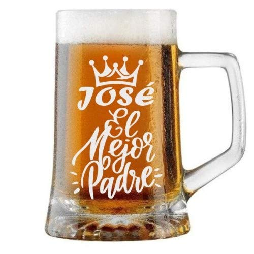 Jarra de Cerveza Personalizada Día del Padre CORONA EL MEJOR PADRE Regalo Grabado y Personalizado para Hombre o Mujer Obsequio Celebraciones Cumpleaños Aniversarios Día del Padre Detalle