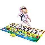 "M SANMERSEN Music Mat for Kids, Kids Piano Mat Touch Play Blanket Keyboard Playmat 53"" x 23"" Musical Mats with Animal Sounds Educational Dance Mat Musical Toys for Boys Girls Kids"
