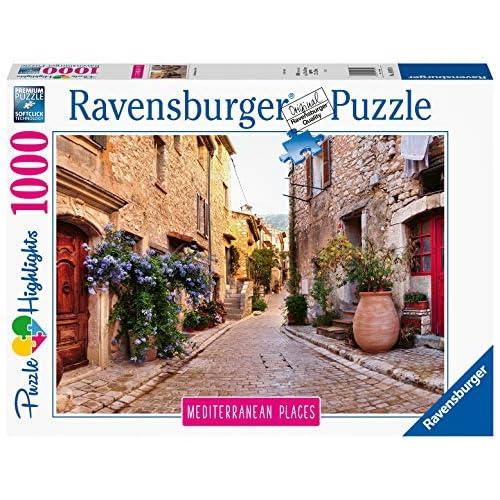 Ravensburger Puzzle, Puzzle 1000 Pezzi, Francia, Puzzle per Adulti, Collezione Mediterranean Places, Puzzle Paesaggi, Puzzle Ravensburger - Stampa di Alta Qualità