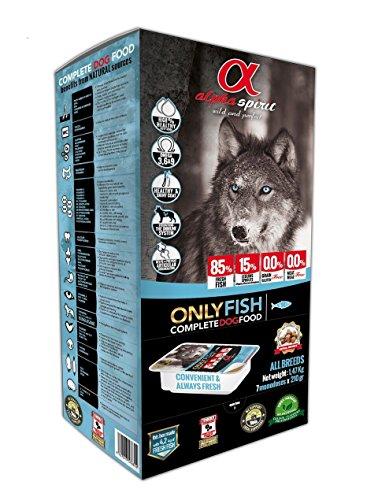 ALPHA SPIRIT Alimento Completo Semi Húmedo Only Fish para Perro - 45 Bandejas