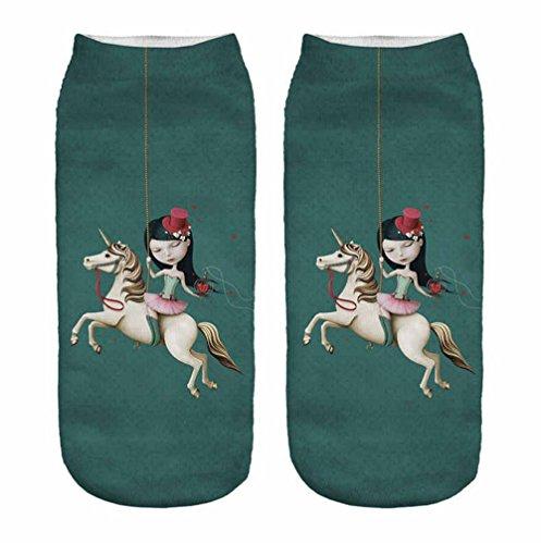 Astrid Leistner Sneaker-Socken - Unicorn Einhorn - 005 Karussell