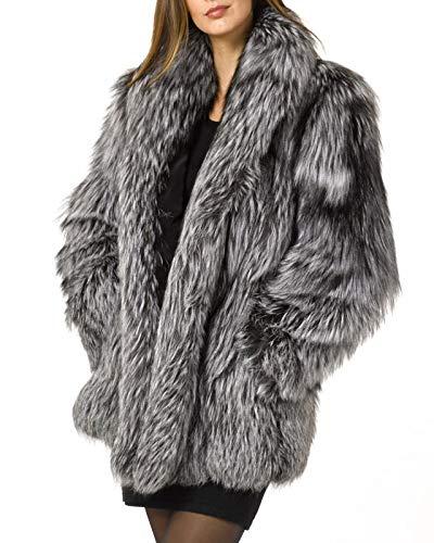 FOLOBE Womens ' Inverno Caldo Cappotto di Pelliccia Finta