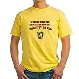 CafePress Go Pro T-shirt en coton Gris cendré - Jaune - Medium