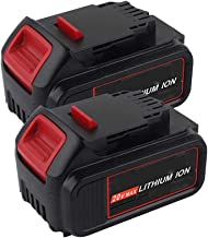 VINIDA 20V 6.0Ah DCB205 Lithium-ion Replacement Battery for Dewalt 20V Battery DCB201 DCB203 DCB204 DCB200 DCB205-2 DCB206 DCB181 DCB180 DCD/DCF/DCG/DCS Series Tools (2 Pack)