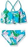 Kanu Surf Girls Flounce Bikini Beach Sport 2 Piece Swimsuit, Alania Floral Aqua, 14
