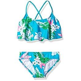 Kanu Surf Girls' Alania Flounce Bikini Beach Sport 2 Piece...