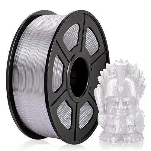 PETG Filamento 1,75 mm, PETG Filamento Impresora 3D, PETG Filamento 1 KG (2,2 lb) PETG Transparente