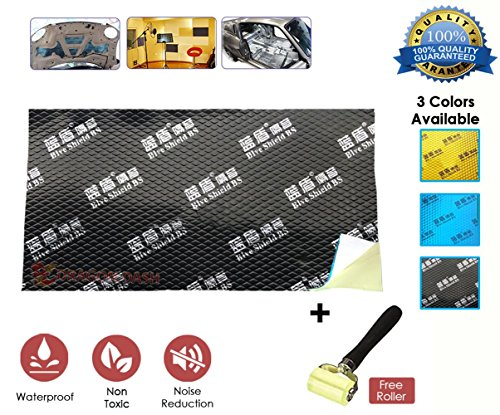 New Dragon Dash 1 Piece (18.1 in X 31.5 in) Adhesive Butyl Sound Deadening Mat Home Work and Auto Deadener Audio Noise Insulation and Dampening Foil DD1148