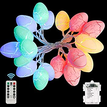 Wispleashare Easter Egg Battery-Operated String Lights