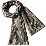 Tactical Scarf Camo Scarf Breathable Perforated Camouflage Pattern Rectangle headband for War Game Sports Outdoor Activities