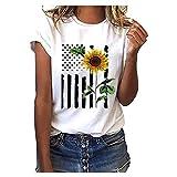 iHENGH Damen Top Bluse Lässig Mode T-Shirt Frühling Sommer Frauen Bequem Blusen Casual Print Lange Ärmel Seitentasche Mit Kapuze Unregelmäßige Tops Shirts