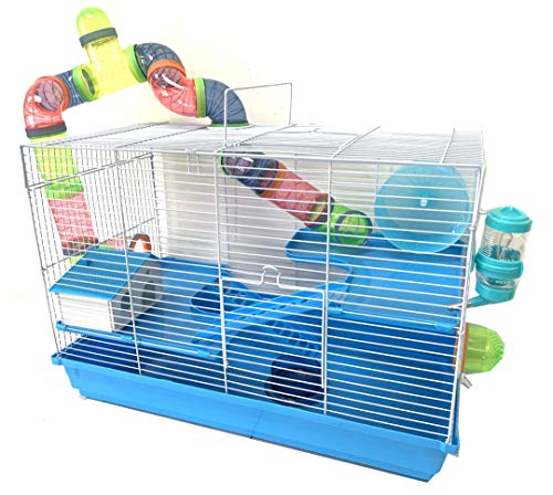 New 2 or 3 Levels Hamster Habitat Rodent Gerbil Mouse Mice Rats Animal Cage (Acrylic Clear)