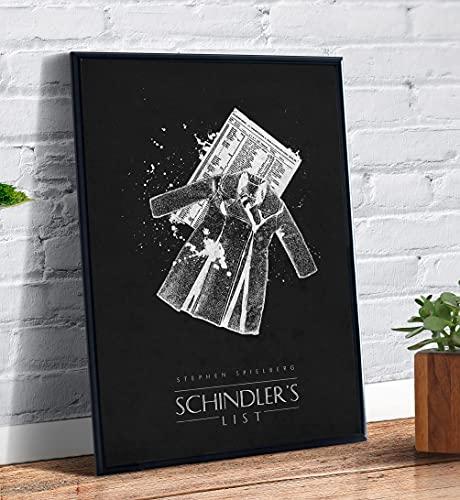 Quadro decorativo emoldurado A4 Schindlers List Filme Spielberg Art