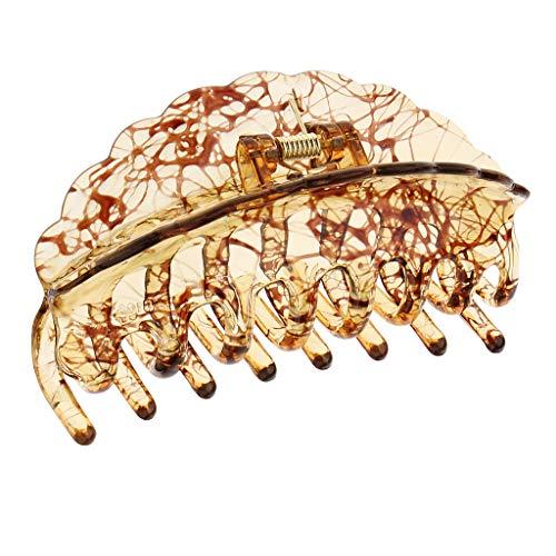 chiwanji Fleur Grand Clip Pince De Griffe Salle De Bain Updo Décor Acrylique Chapeaux Accessoires - café
