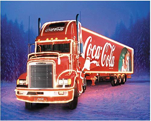 Oofficee 5D DIY Diamantmalerei Cola Truck Mosaik Diamant Stickerei Home Stitch Geschenk 30 × 40 cm , 11 × 15In