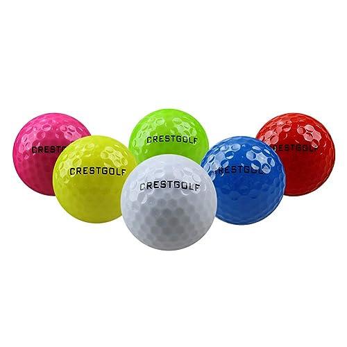 Crestgolf Flashing Glowing Golf Ball,Night Glow Flash Light up LED Golf Ball