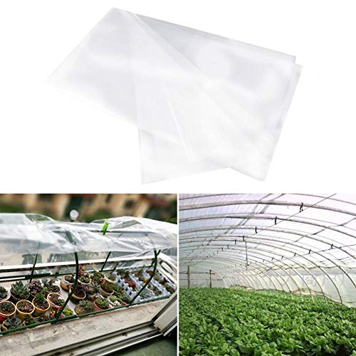 Klare Polyethylen-Gewächshausfolie, UV-beständige Gewächshauspflanzenabdeckung für Tunnel und Gartenreifen, Frostschutzdecke zur Verlängerung der Saison, Warmhalten und Frostschutz