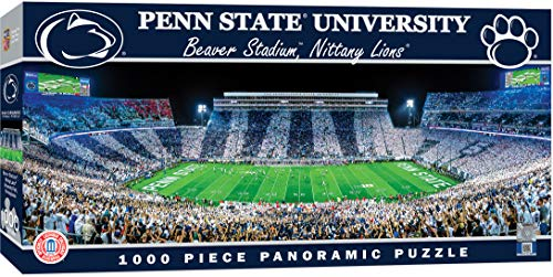 MasterPieces NCAA Penn State Nittany Lions, Stadium Panoramic Jigsaw Puzzle, Beaver, 1000 Pieces