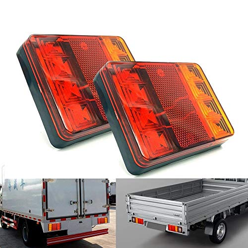 Konglz 2 stuks CNSUNNY Light DC 12V Car Truck Trailer Caravans LED Rear Tail waarschuwing remlicht