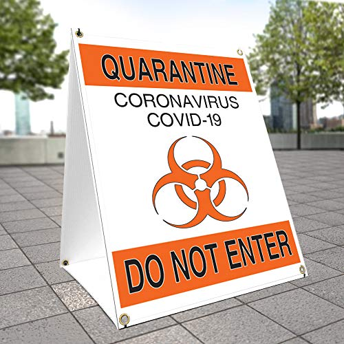 """OSHA Notice Sign - Quarantine Do Not Enter 1 