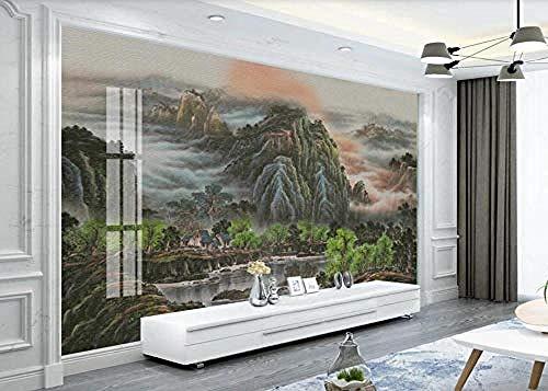 Wallpaper 3D Chinesische Malerei von Bergen und Flüssen Moderne benutzerdefinierte Wandbild Foto Wallpaper Wandbilder-150 cm x 105 cm