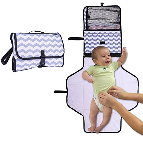 Portable Changing Station Pad Perfect for Newborn Baby Toddler Diaper Clutch Best Lightweight Travel Waterproof Clutch Bag Changing Station Infant Travel Diaper Mat Kit