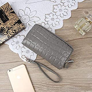 iBag's Fashion 2019 New Natural Leather Handbag Women Double Zipper Large Capacity Hand Holding Package Female Coin Purse Phone Bag