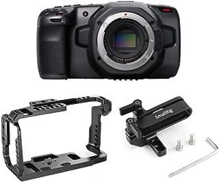 Blackmagic Design Pocket Cinema Camera 6K (Canon EF) with SmallRig Cage and Mount for SSD Bundle (3 Items)