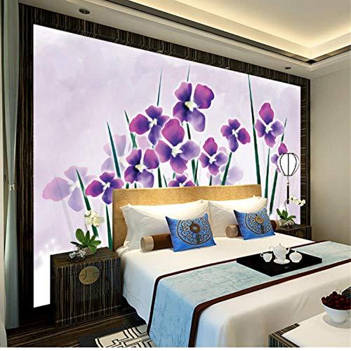 Behang Patroon Bloem Muurdecoratie Vintage Bloemen,Behang te koop Hd Muurschilderingen, Wandkunst Ideeën voor Slaapkamer Restaurant 208 cm (B) x 146 cm (H)